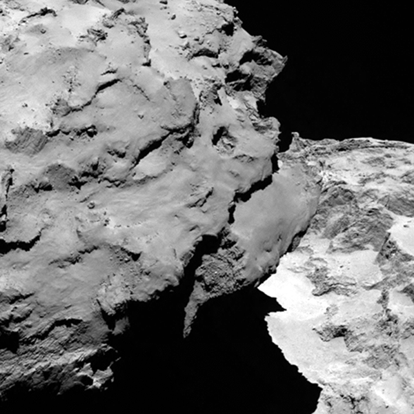 Close-up detail of comet 67P/Churyumov-Gerasimenko taken Aug. 6 from 120 km. (ESA/Rosetta/MPS for OSIRIS Team MPS/UPD/LAM/IAA/SSO/INTA/UPM/DASP/IDA)