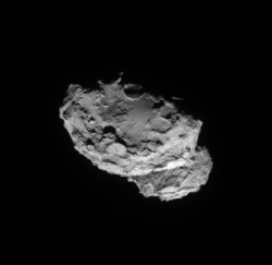 NAVCAM image of 67P/C-G from August 4, 2014 (ESA/Rosetta/NAVCAM)