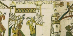 "The 1066 appearance of Halley's Comet is represented in the Bayeaux Tapestry. ""They Marveled at the Star"""
