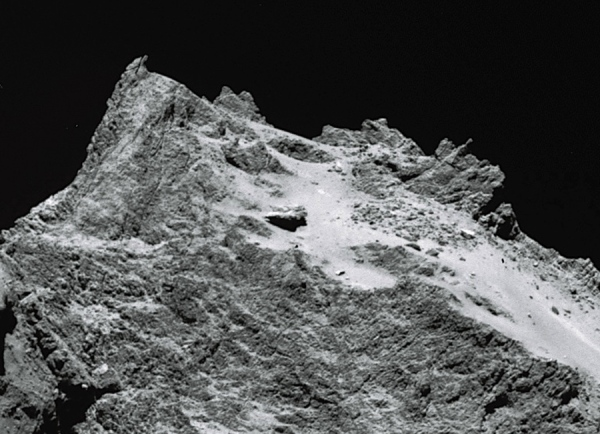 A mountain of ice and rock on Comet 67P/C-G