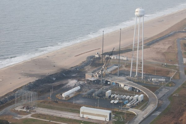 Pad 0A at Wallops the morning after the Antares explosion. Credit: NASA/Terry Zaperach