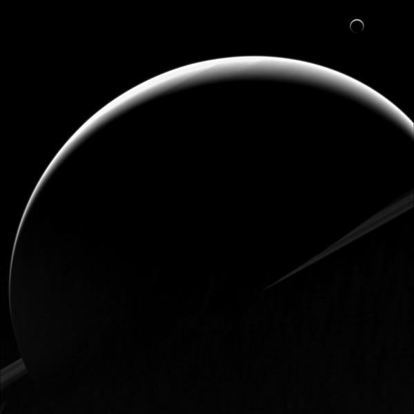 Cassini image of Saturn and Titan from Aug. 11, 2013 (NASA/JPL-Caltech/SSI)