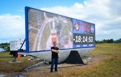 EFT-1 was the first mission to use the new countdown clock installed at KSC's Press Site.