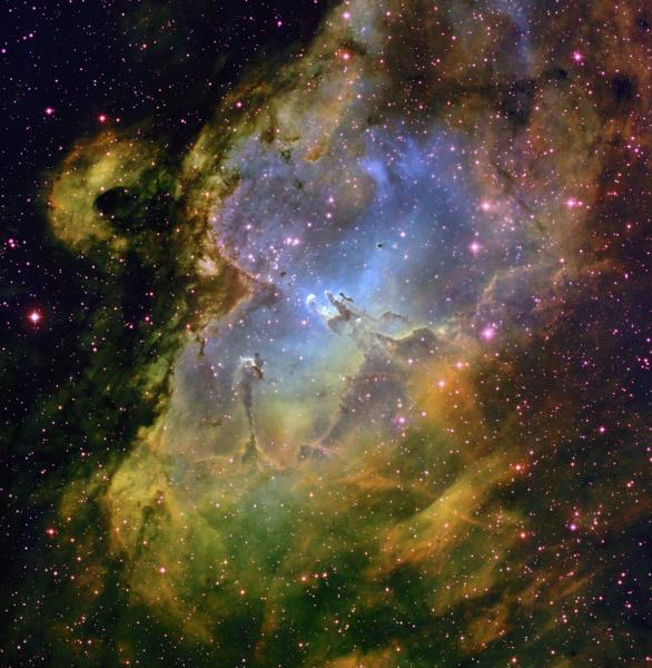Wide-field image of the Eagle Nebula (M16) in the constellation Serpens. Credit: T.A.Rector (NRAO/AUI/NSF and NOAO/AURA/NSF) and B.A.Wolpa (NOAO/AURA/NSF)