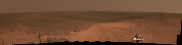 Opportunity's view from Cape Tribulation (NASA/JPL-Caltech/Cornell Univ./Arizona State University)
