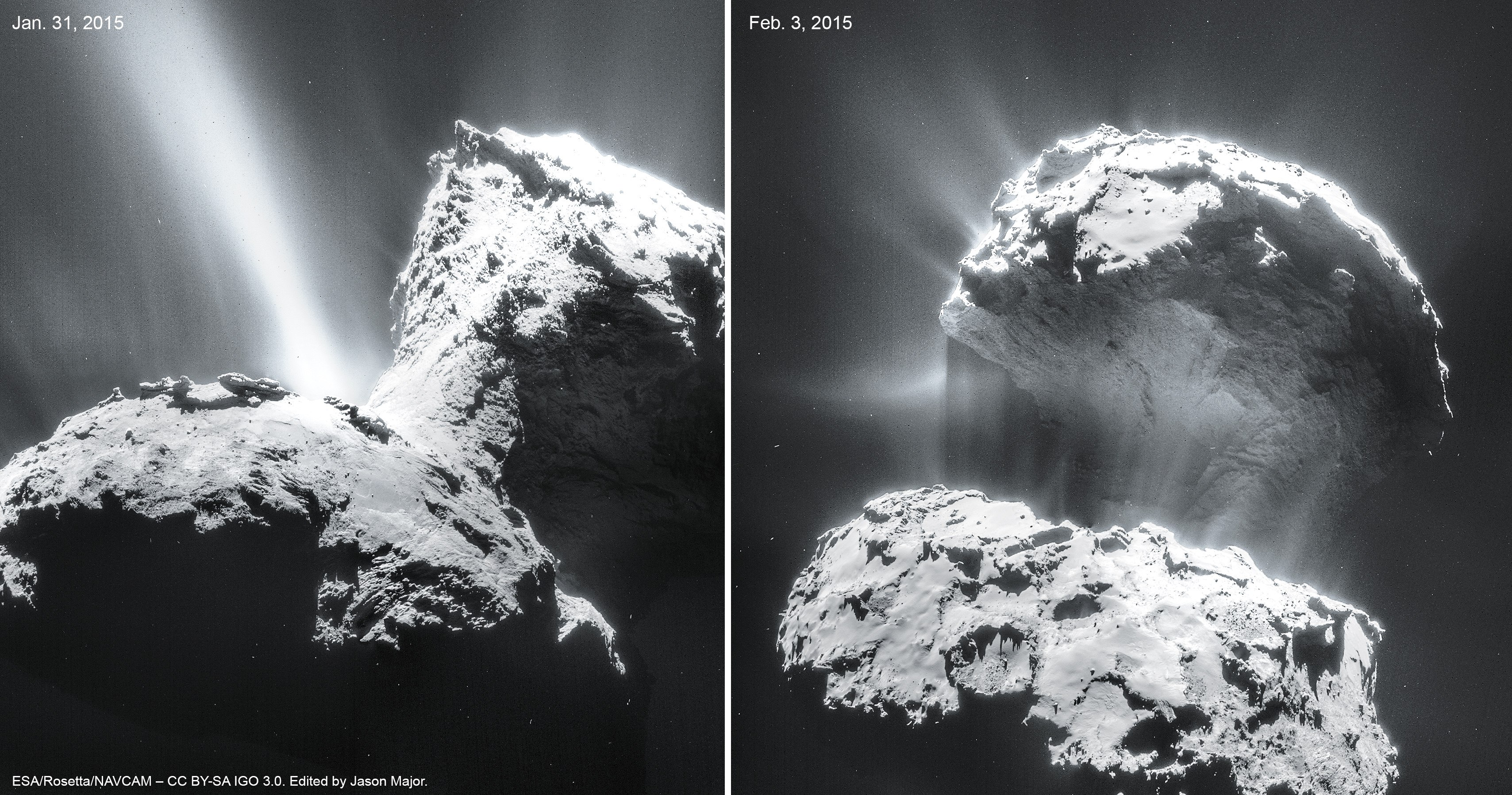 Comet 67p Fires Up Its Jets