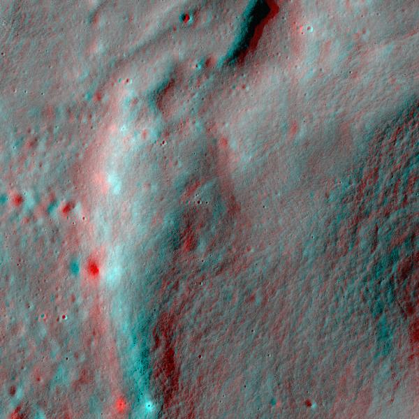 A ridge in the Orientale basin  (NASA/GSFC/Arizona State University)