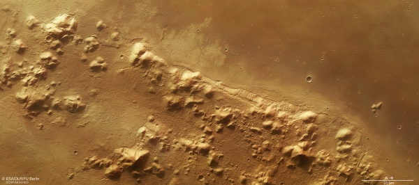 HRSC image of a portion of Phlegra Montes on Mars, acquired by ESA's Mars Express on Oct. 8, 2014. Credit: ESA/DLR/FU BERLIN, CC by-SA 3.0 IGO