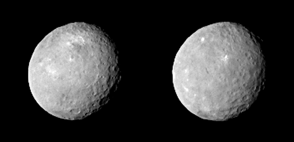 Images of Ceres captured by NASA's Dawn spacecraft on Feb. 12, 2015 from 52,000 miles away. Credits: NASA/JPL-Caltech/UCLA/MPS/DLR/IDA.