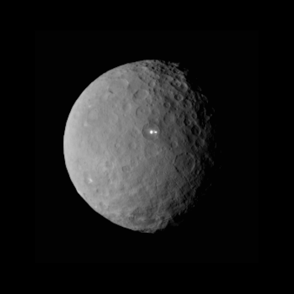 Image of Ceres captured by Dawn on Feb. 19, 2015