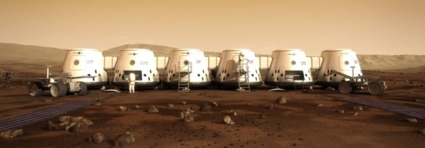 Proposed MarsOne habitation Cargo and Living Units. (Credit: MarsOne)