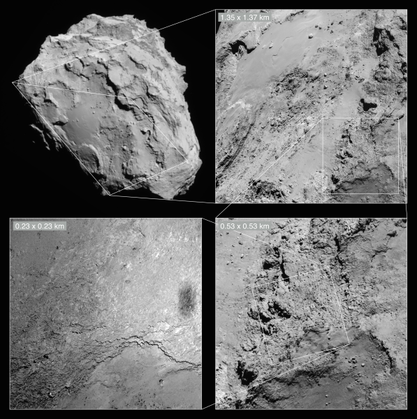 NavCam images used to put the OSIRIS view in context.