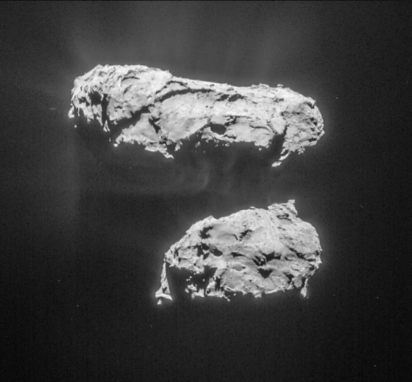Comet 67P/C-G on March 14, imaged by Rosetta's Navcam. (ESA/Rosetta/NavCam – CC BY-SA IGO 3.0)