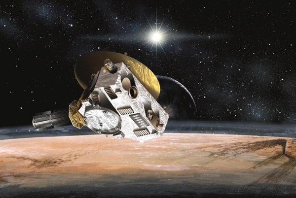 Artist's impression of the New Horizons flyby in July 2015. (NASA/SwRI)