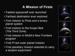 New Horizons is a mission of many firsts (Credit: Alan Stern, New Horizons principal investigator, Southwest Research Institute, Boulder, CO)
