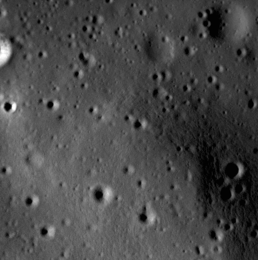 A small portion of the interior of Scarlatti basin, imaged at an incredible 2.8 meters (9 feet) per pixel. The entire image is about 1.4km (0.9 mile) across.