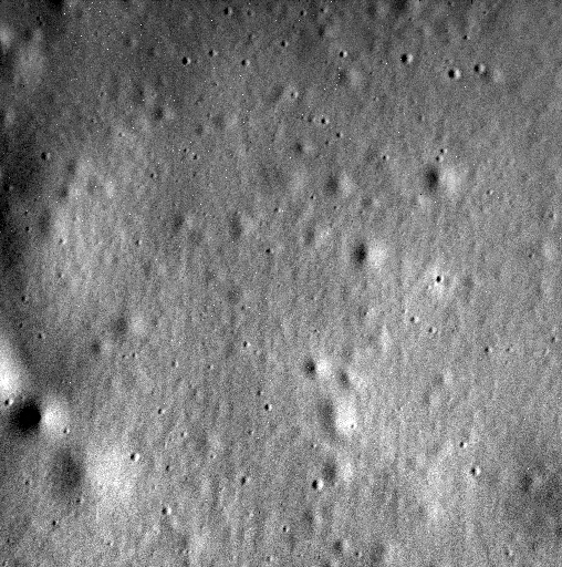 This was the last image received from MESSENGER on April 30, 2105. It shows a 1-km-wide region inside the 93-km-wide crater Jokai. Credit: NASA/Johns Hopkins University Applied Physics Laboratory/Carnegie Institution of Washington.