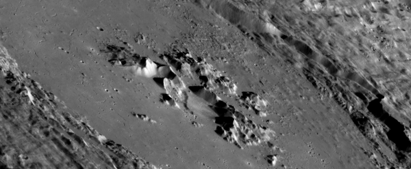 The possibly-volcanic crater Adedin on Mercury by MESSENGER. Credit: NASA/Johns Hopkins University Applied Physics Laboratory/Carnegie Institution of Washington.