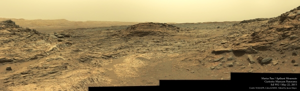 Panorama mosaic of MSL images acquired on May 22, 2015