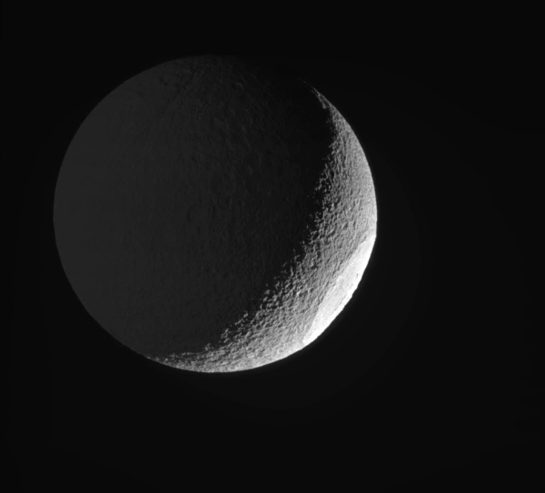 Tethys imaged by Cassini on May 9, 2015.