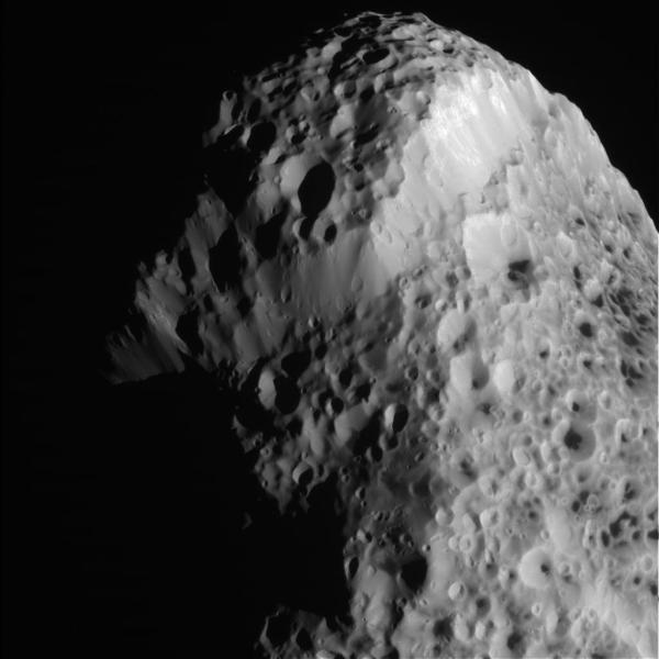 Hyperion on May 31, 2015 (NASA/JPL-Caltech/SSI)