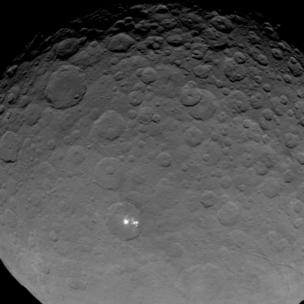 Image of Ceres from Dawn on May 16, 2015.