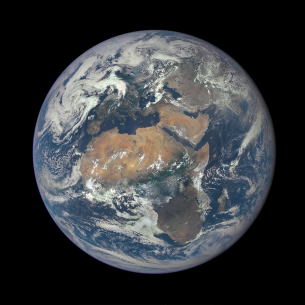 DSCOVR image of Earth from July 6, 2015. (NASA/NOAA)