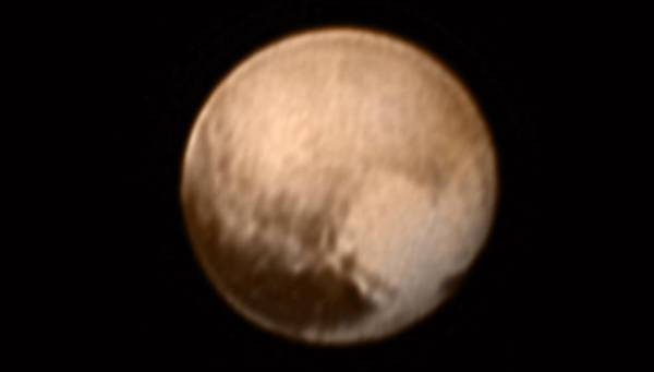 Color image of Pluto from July 8, 2015 (NASA-JHUAPL-SWRI)