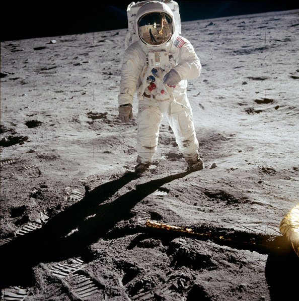 Buzz Aldrin photographed by Neil Armstrong (NASA)