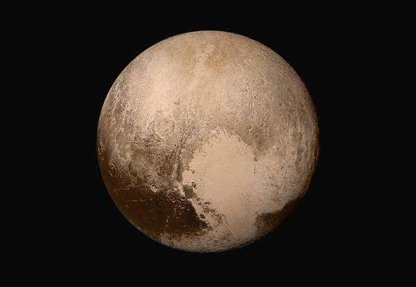 Visible-light image of Pluto from New Horizons (NASA/JHUAPL/SwRI)