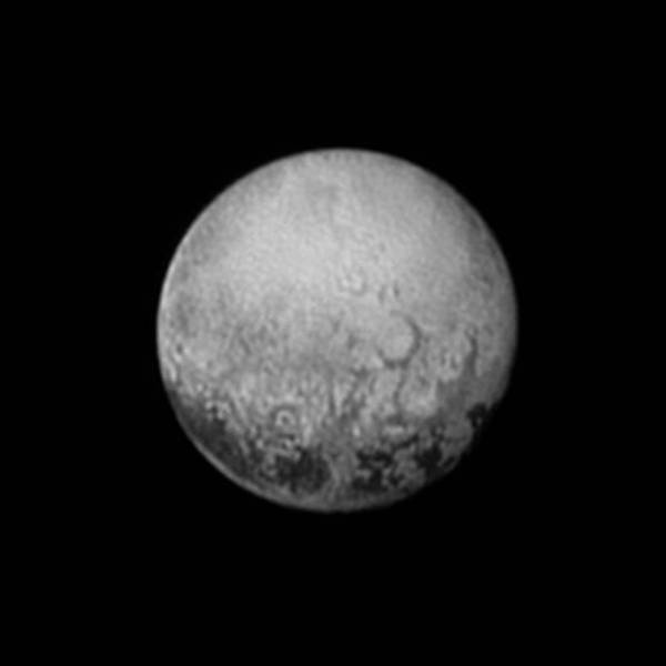 Pluto's Charon-facing side imaged by New Horizons on July 11, 2015 (NASA/Johns Hopkins University Applied Physics Laboratory/Southwest Research Institute)