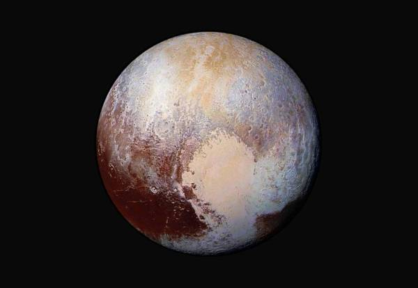 Enhanced-color view of Pluto (NASA/JHUAPL/SwRI)
