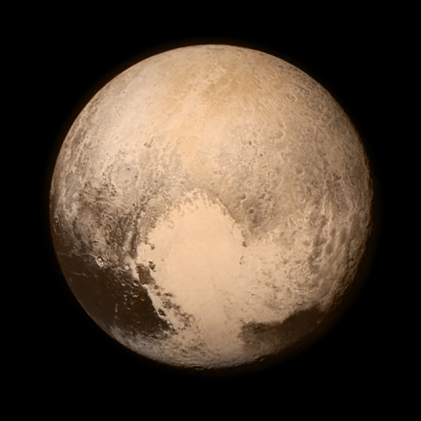 New Horizons image of Pluto the day before the flyby. NASA/JHUAPL/SWRI
