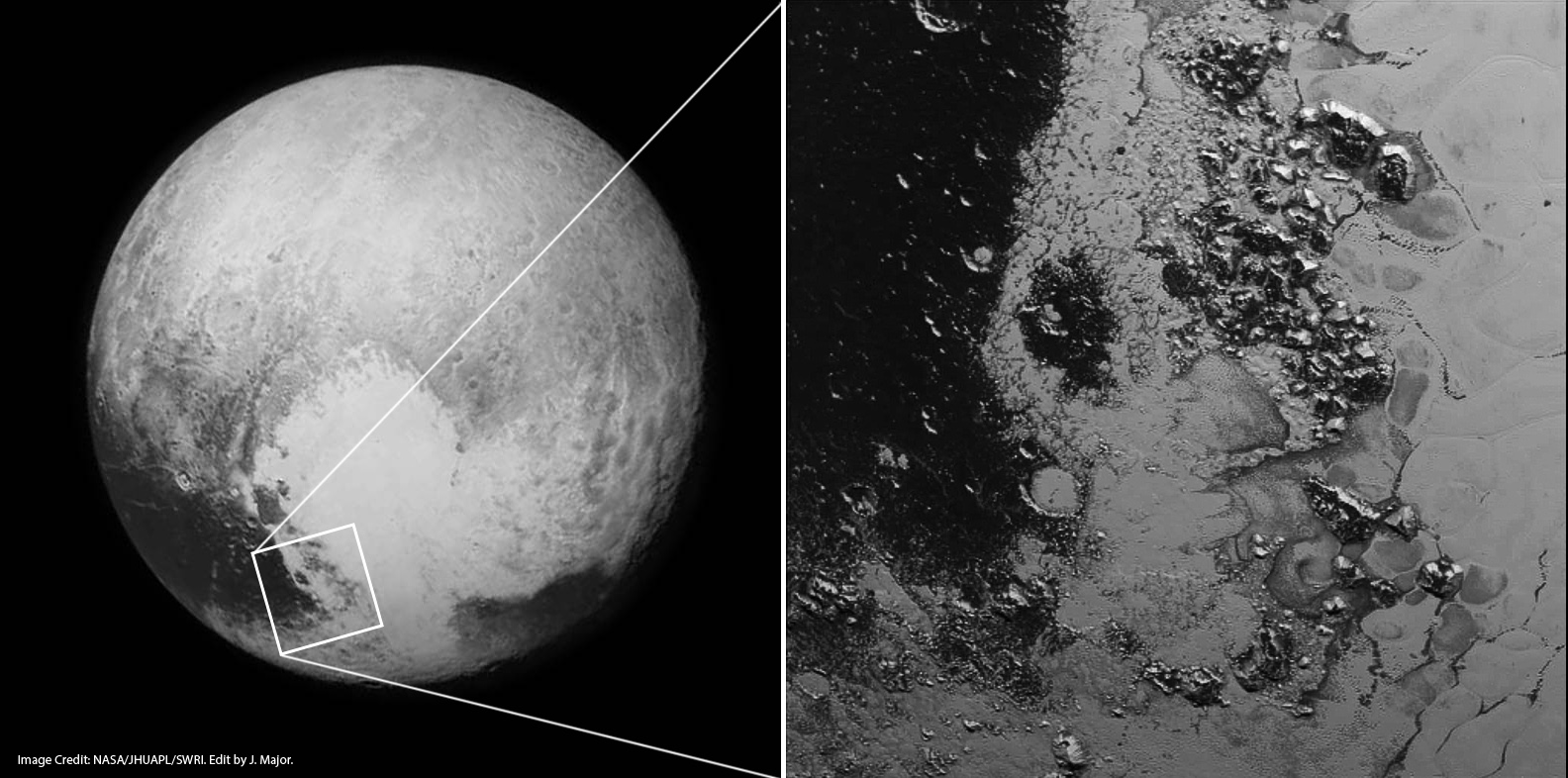 Another Mountain Range Discovered on Pluto | Lights in the ...