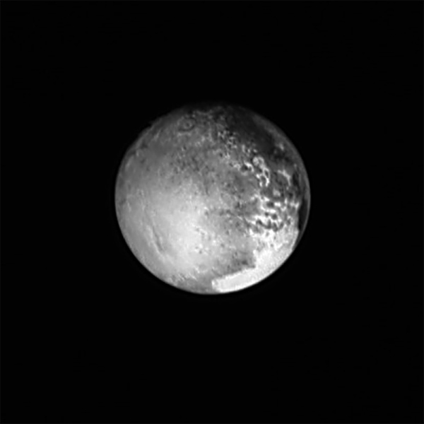 LORRI image of Pluto from July 12, 2015.