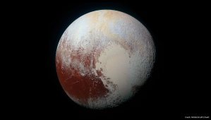New enhanced-color image of Pluto from New Horizons (NASA/JHUAPL/SwRI)