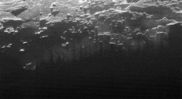 Looking down into Pluto's hazy atmosphere. NASA/JHUAPL/SwRI