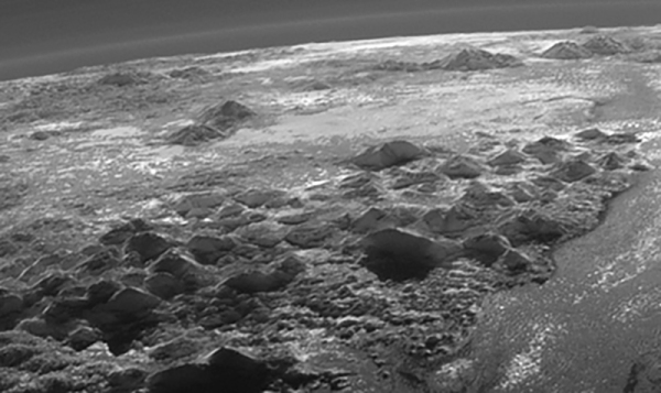 Detail of the MVIC image of Pluto's surface. (NASA/JHUAPL/SwRI/J. Major)