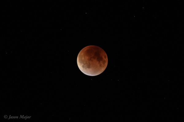 "Sept. 27, 2015 ""Supermoon"" eclipse (©Jason Major)"