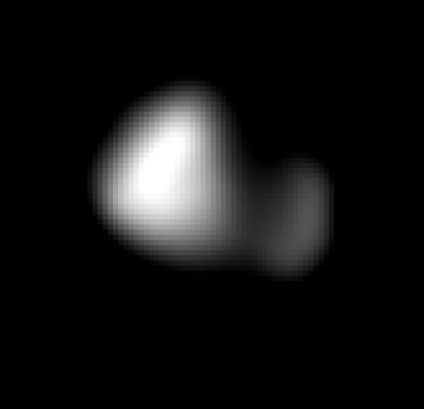 Kerberos imaged by New Horizons on July 14, 2015 several hours before its close pass by Pluto. (NASA/JHUAPL/SwRI)