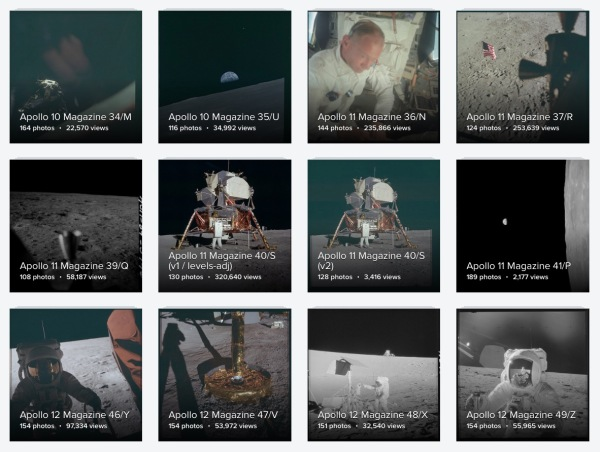 High-resolution scans of Apollo mission photos are now available on Flickr
