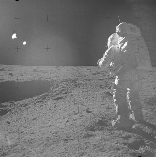 Ed Mitchell on the lunar surface during Apollo 14 EVA, Feb. 5, 1971 (NASA)