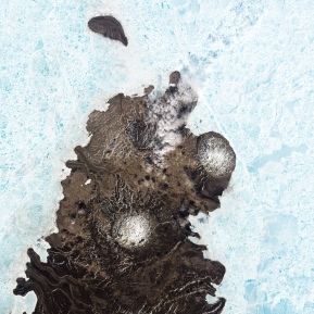 Landsat image of salt domes (diapirs) on Canada's Melville Island (NASA)