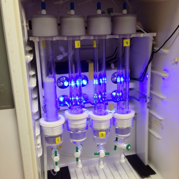 This refrigerator was turned into an incubator for plankton, complete with LEDs
