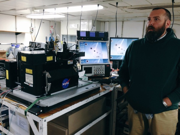 A high-tech (if pared-down) flow cytometer aboard the R/V Atlantis