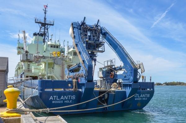 Atlantis docked at Woods Hole, May 10, 2016. ©Jason Major