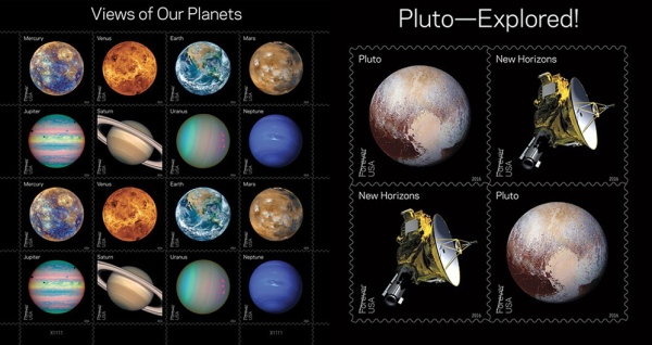 New planetary exploration Forever stamps from the USPS