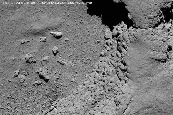 Comet 67P imaged by Rosetta from 5.8 km on Sept. 30, 2016 (ESA/Rosetta/MPS for OSIRIS Team MPS/UPD/LAM/IAA/SSO/INTA/UPM/DASP/IDA)