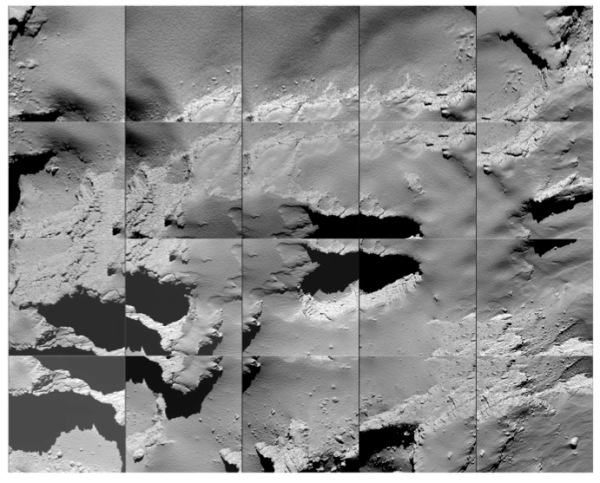 OSIRIS images captured by Rosetta on descent to comet 67P, Sept. 30 2016. (ESA/Rosetta/MPS for OSIRIS Team MPS/UPD/LAM/IAA/SSO/INTA/UPM/DASP/IDA)
