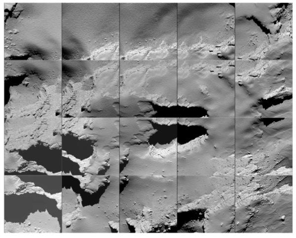 OSIRIS images captured by Rosetta on descent to comet 67P, Sept. 30 2016. (ESA/Rosetta/MPS for OSIRIS Team MPS/UPD/LAM/IAA/SSO/INTA/UPM/DASP/IDA)